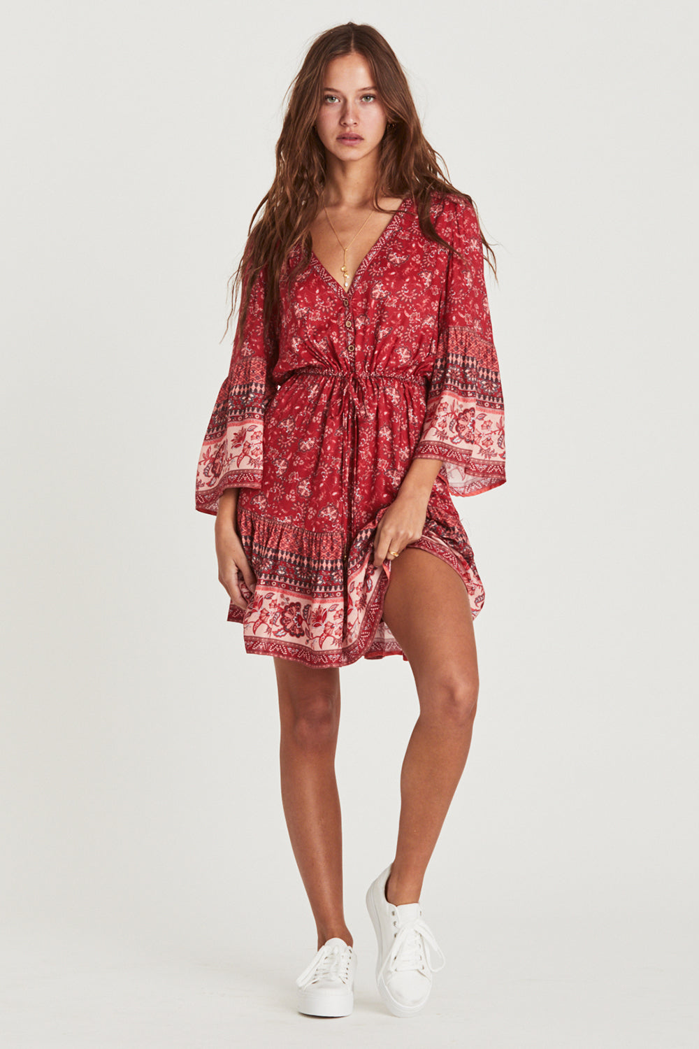 Amelie Mini Dress in Cassis