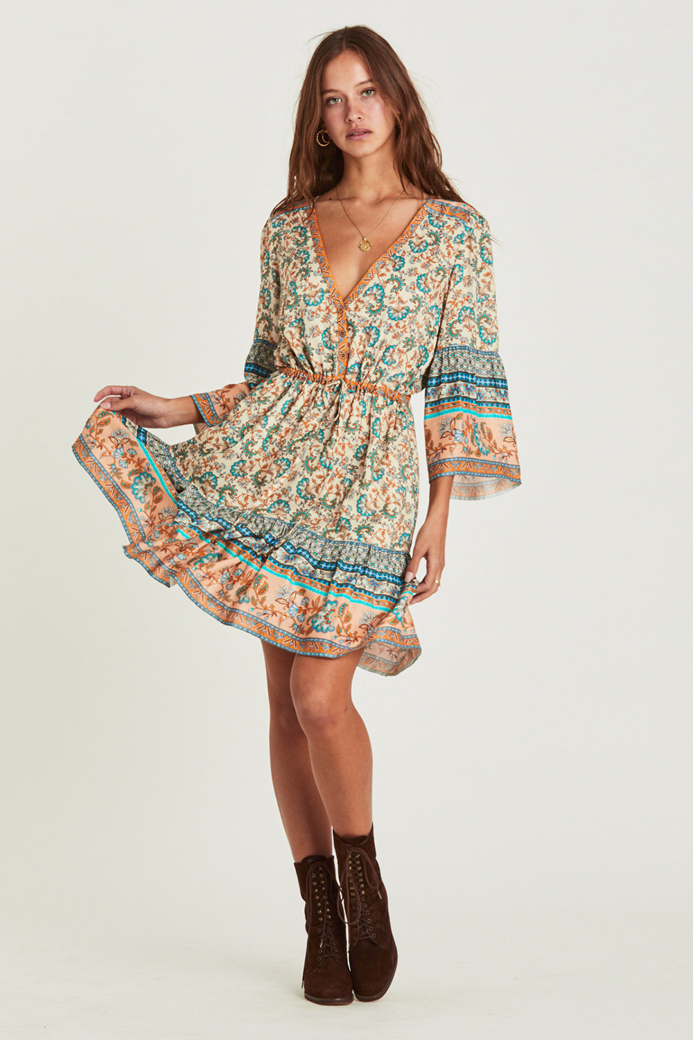 Amelie Mini Dress in Provence