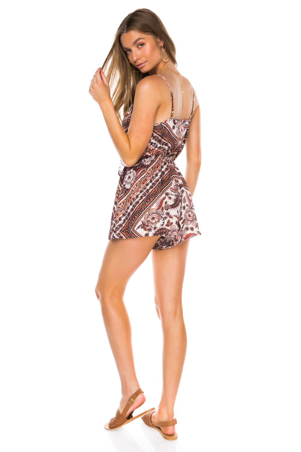 Azalea Romper in Brown