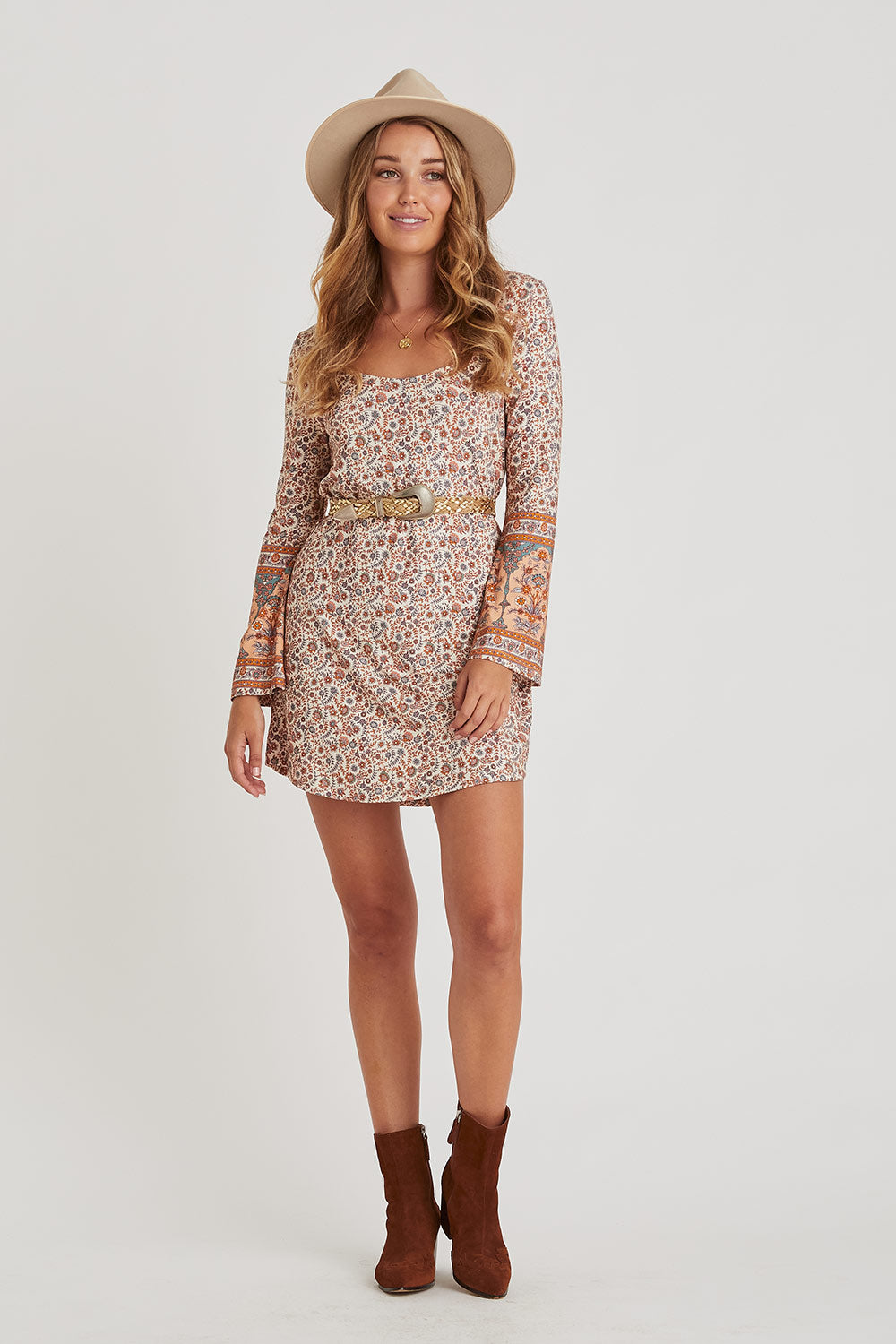 Fleetwood Jersey Dress in Harvest Gold