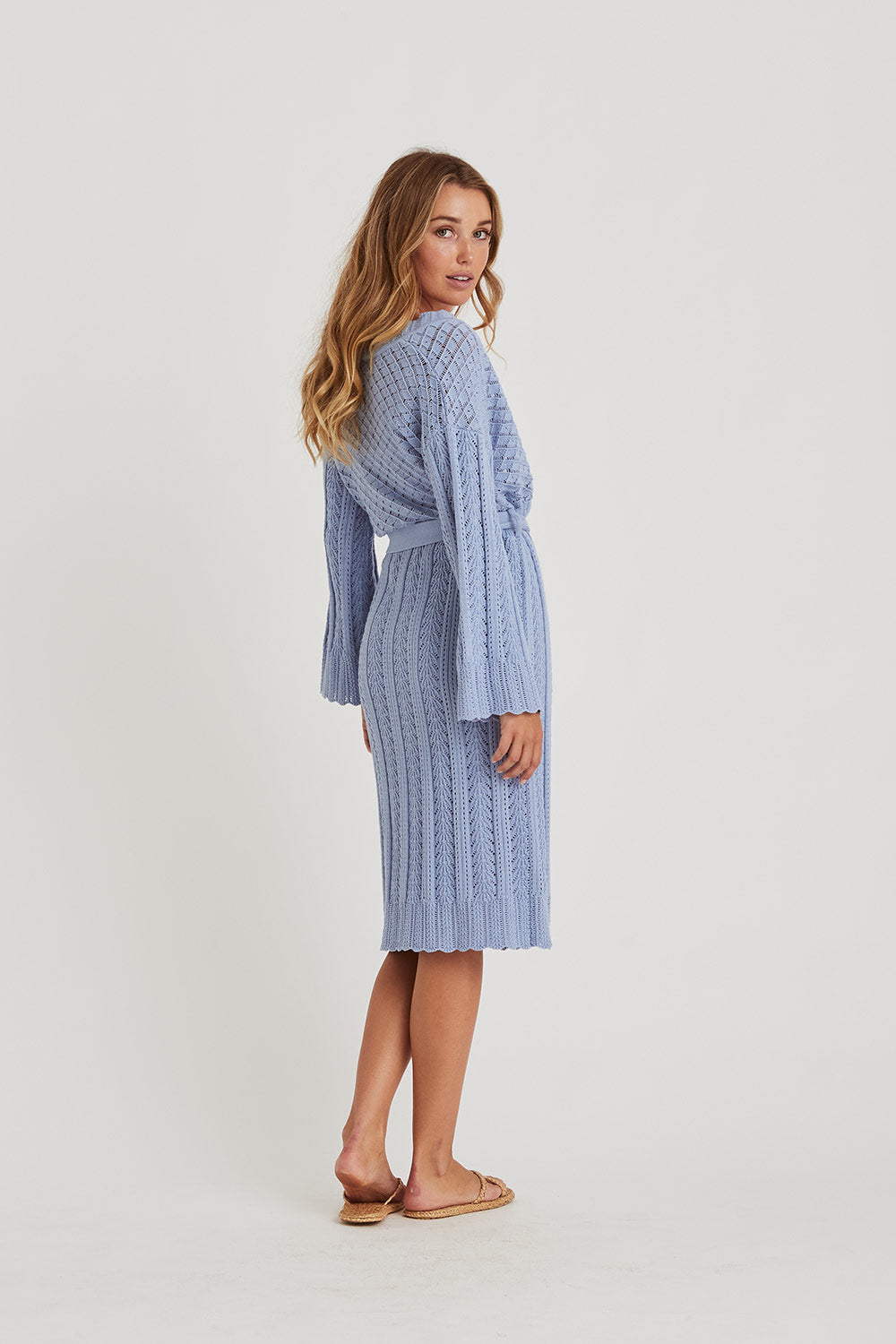 Gardenia Cardigan in Powder Blue