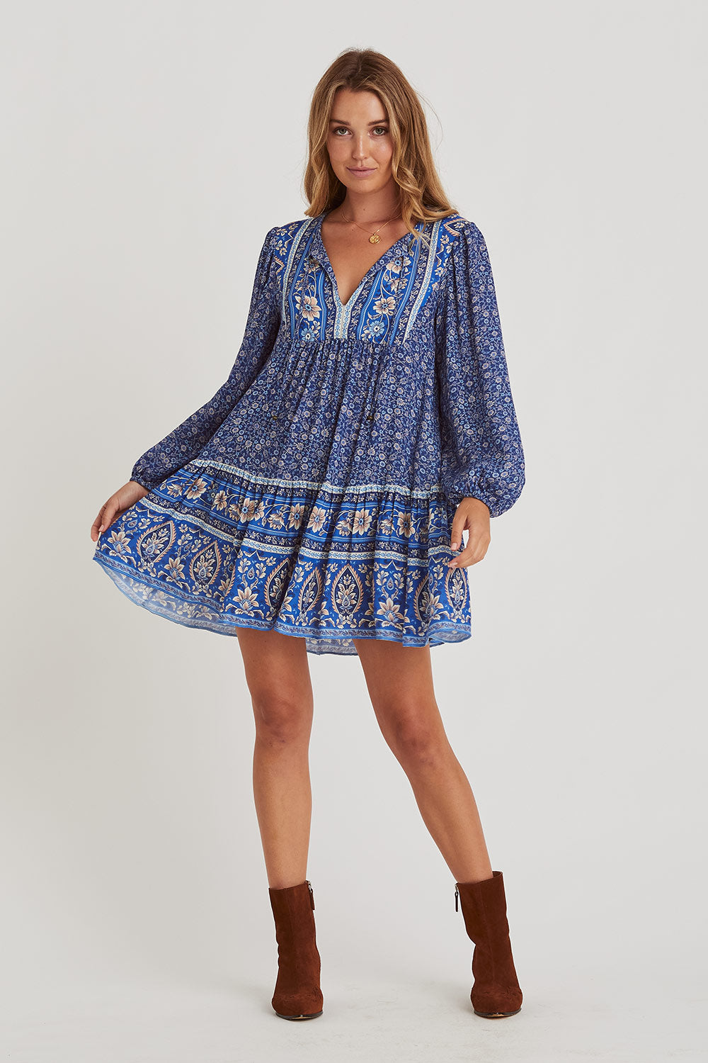 Esmee Tunic Dress in Lakeside