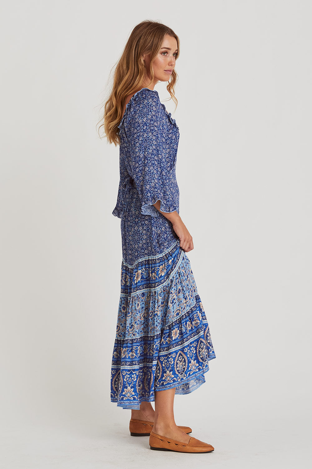 Esmee Midi Dress in Lakeside
