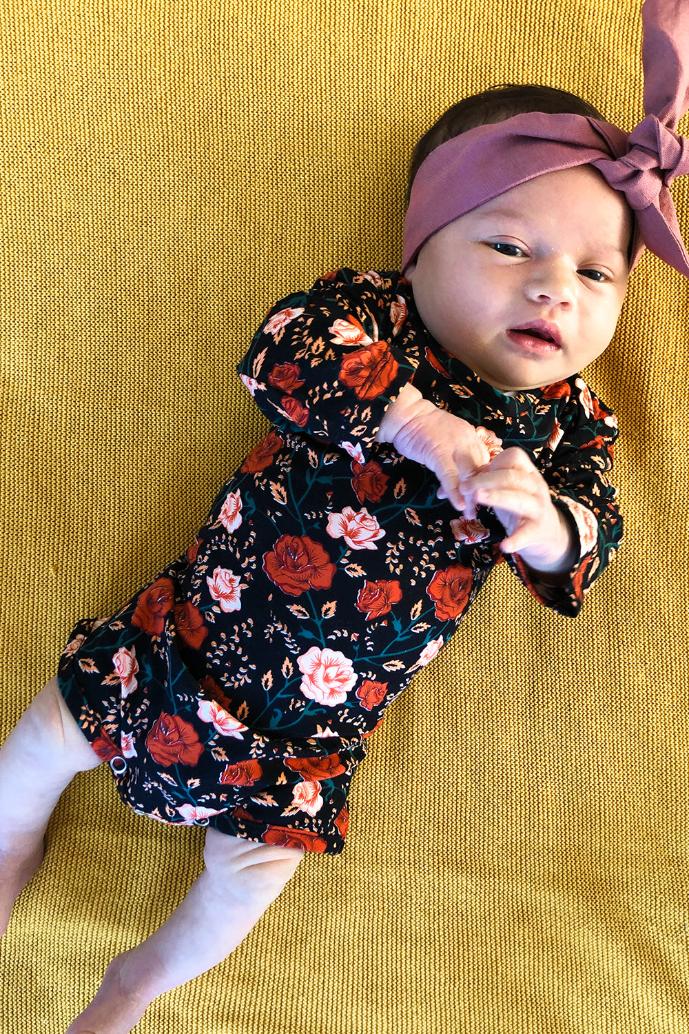 Bella Rosa Baby Romper in Midnight