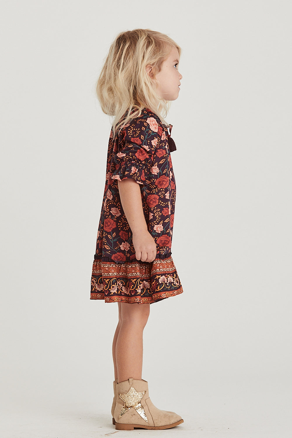 Bella Rosa Kiddies Dress in Midnight