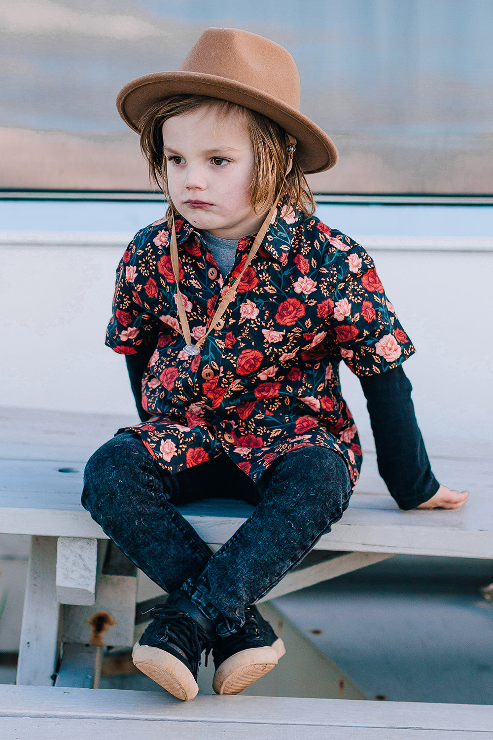 Bella Rosa Littles Shirt in Midnight