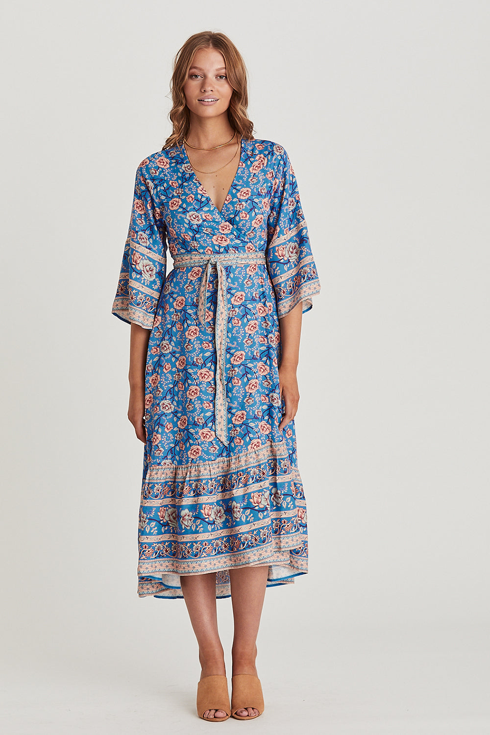 Bella Rosa Wrap Dress in Olympia