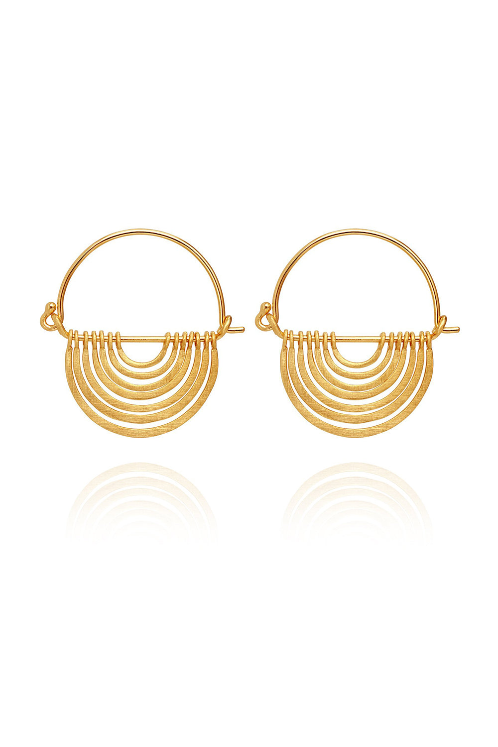 Temple of the Sun ~ Baye Earrings Gold