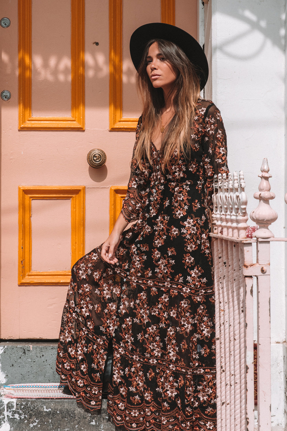 Elysian Maxi Dress in Ebony