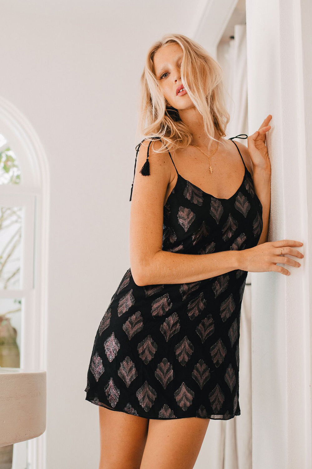 Celeste Slip Dress in Eclipse
