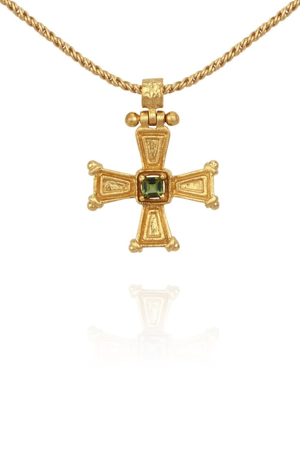 Temple of the Sun ~ Crista Necklace Gold