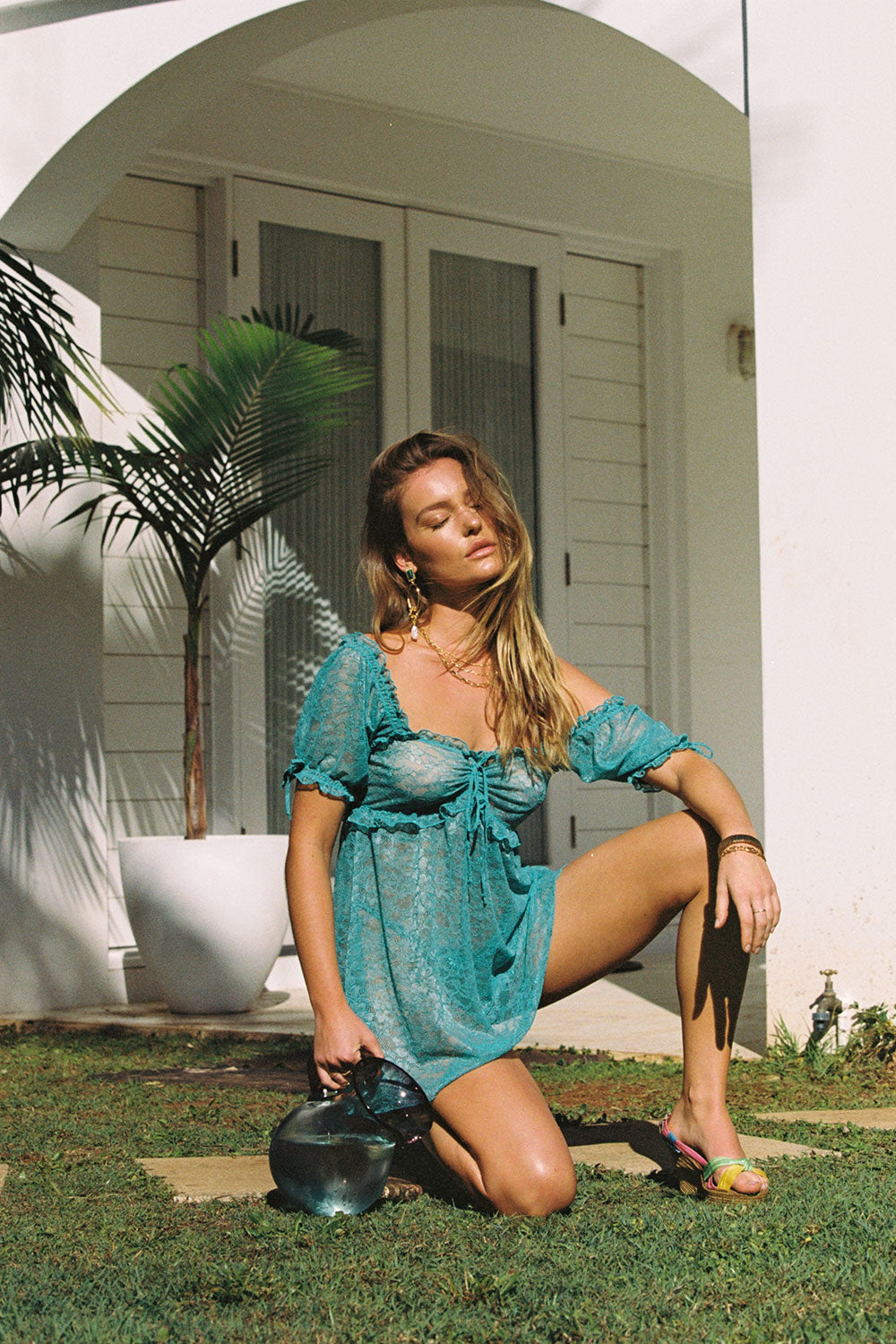 Cherry Babydoll Mini in Teal