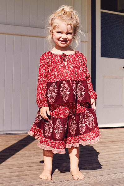 Wisteria Toddler Blouse in Crimson