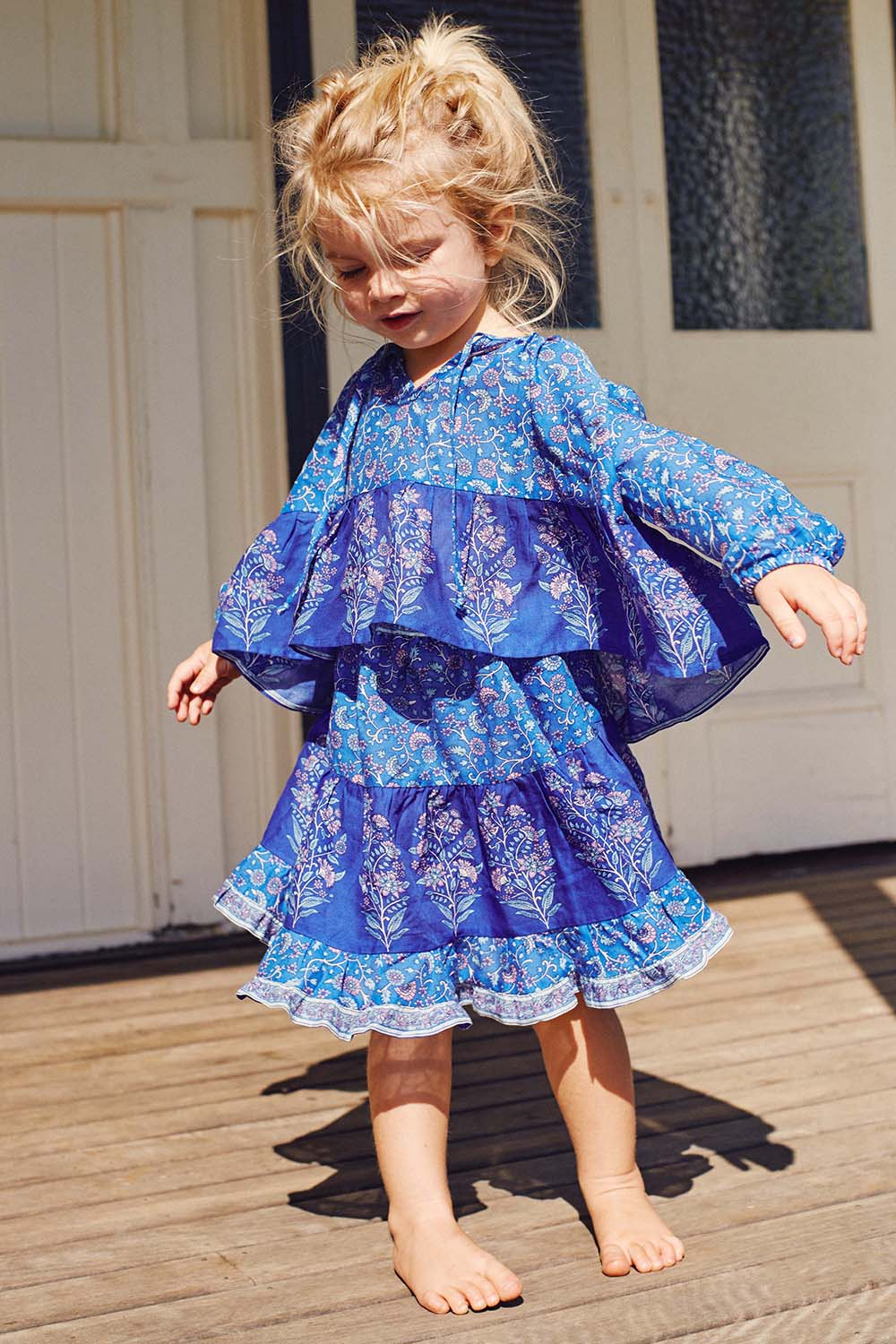 Wisteria Toddler Blouse in Moonlight Blue