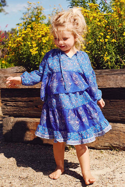 Wisteria Toddler Skirt in Moonlight Blue