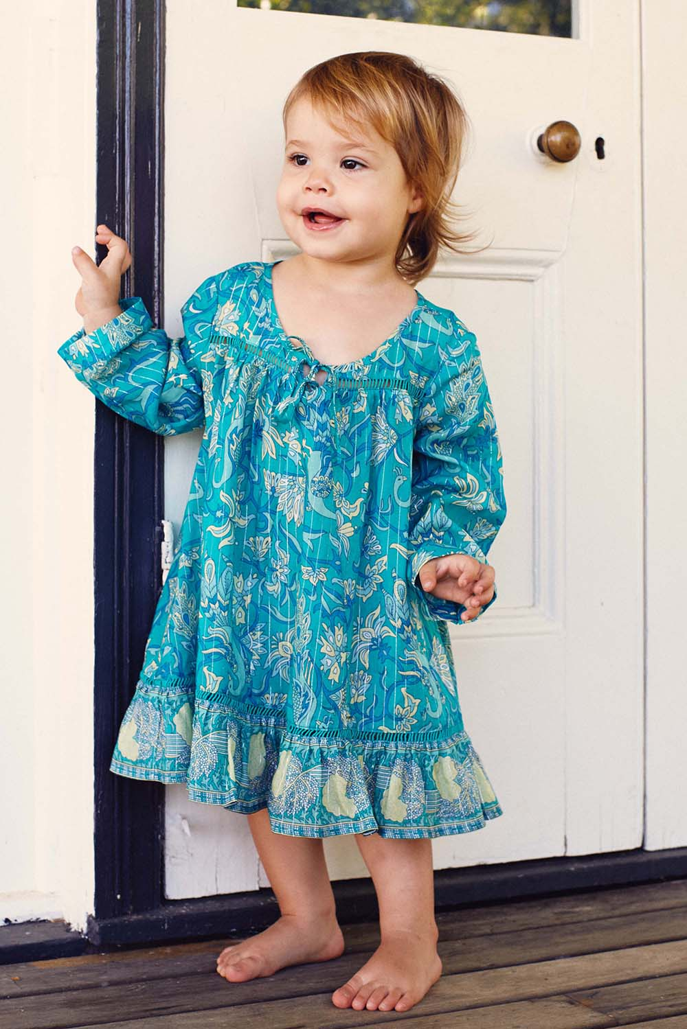 Aphrodite Child Dress in Jade