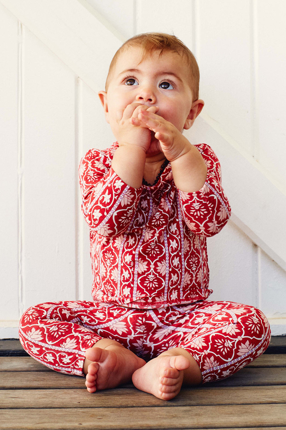 Harper Baby Leggings in Rouge