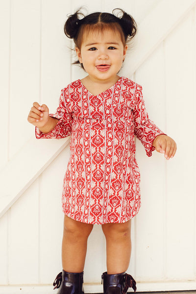Harper Kiddies Dress in Rouge