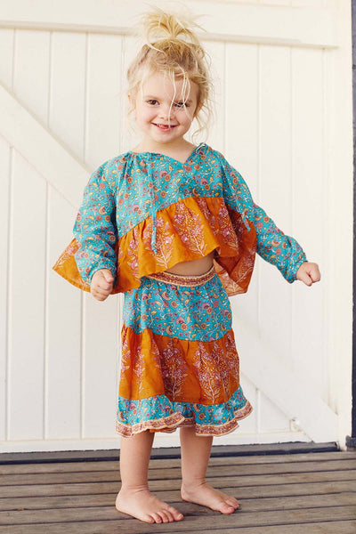 Wisteria Toddler Blouse in Allure