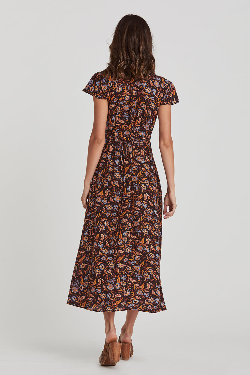 Daisy Chain Wrap Dress in Amber