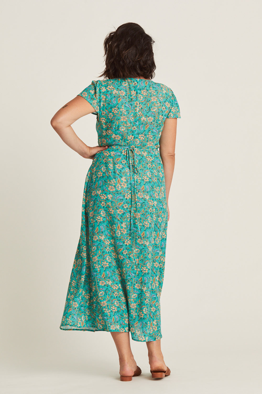 Daisy Chain Wrap Dress in Poolside