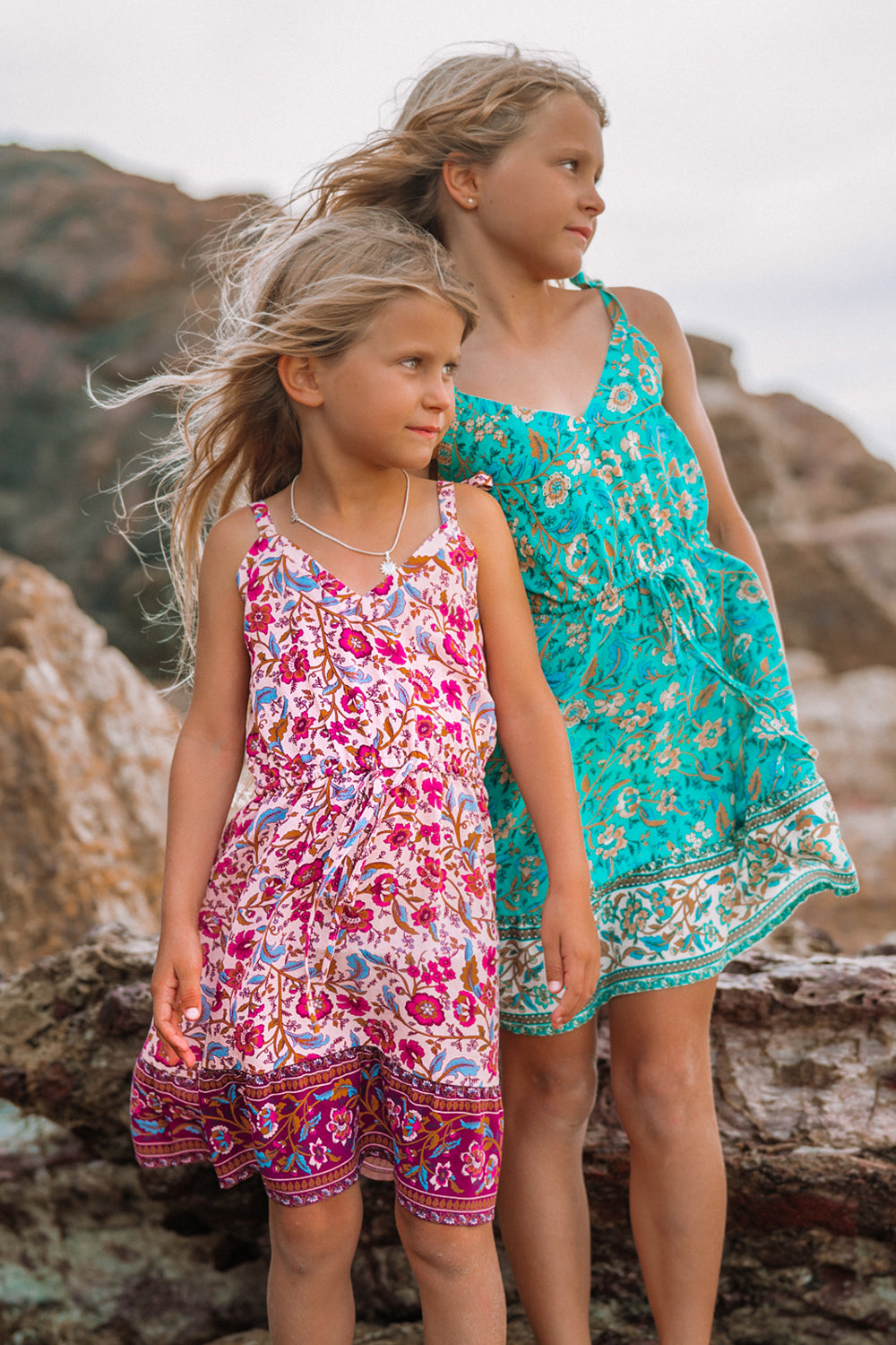 Daisy Chain Littles Dress in Candy