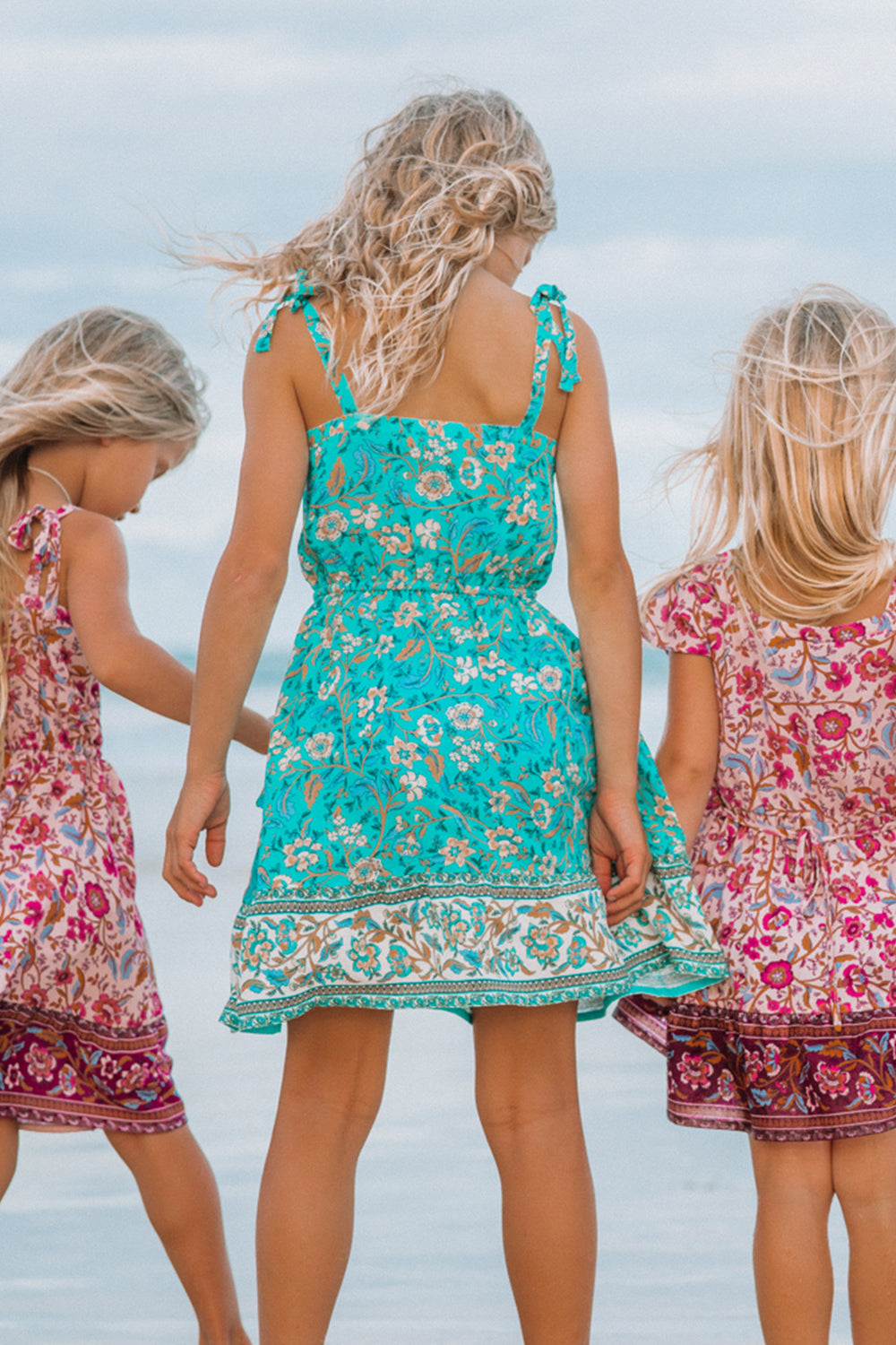 Daisy Chain Littles Dress in Poolside