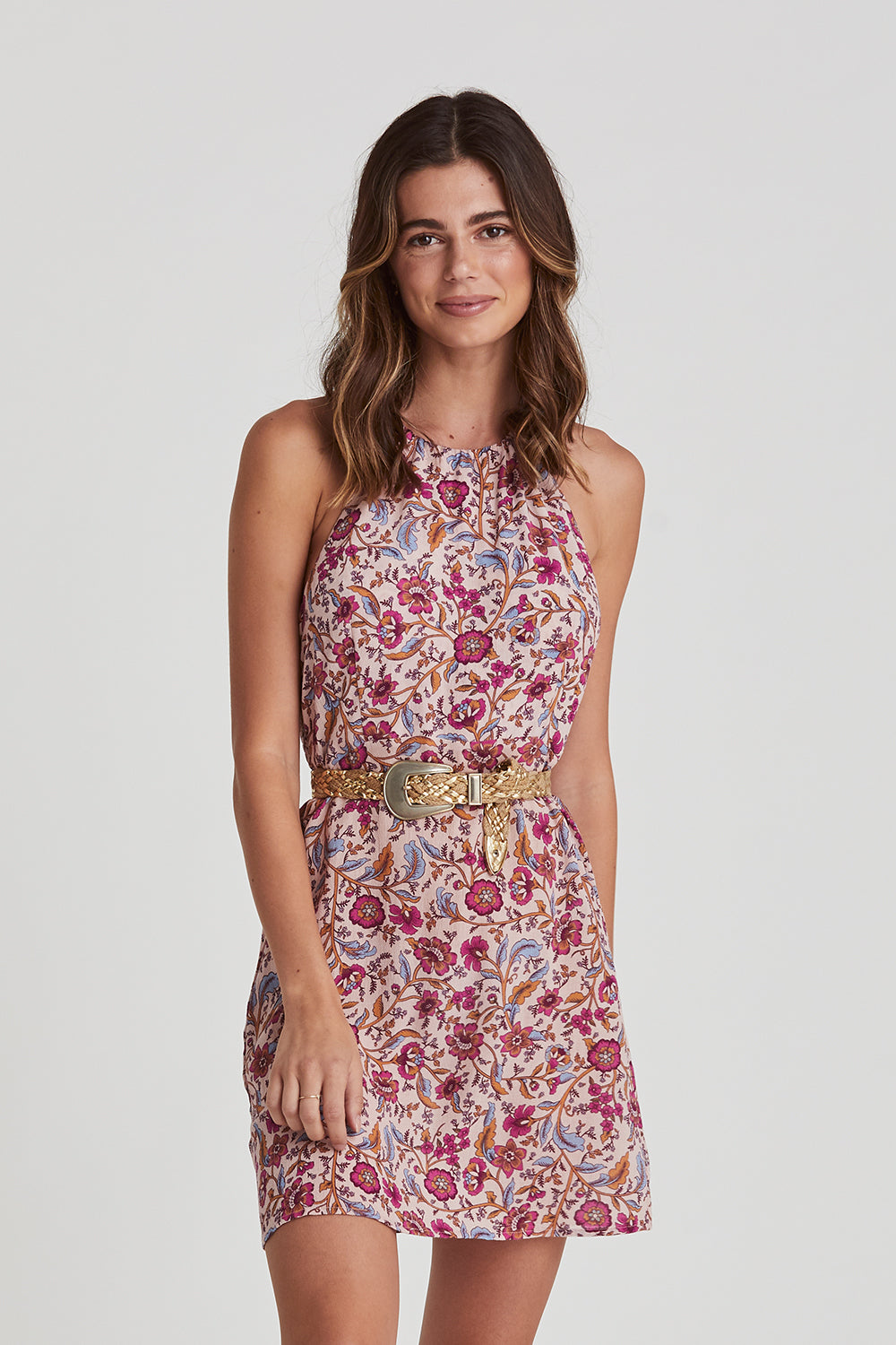 Daisy Chain Halter Dress in Candy