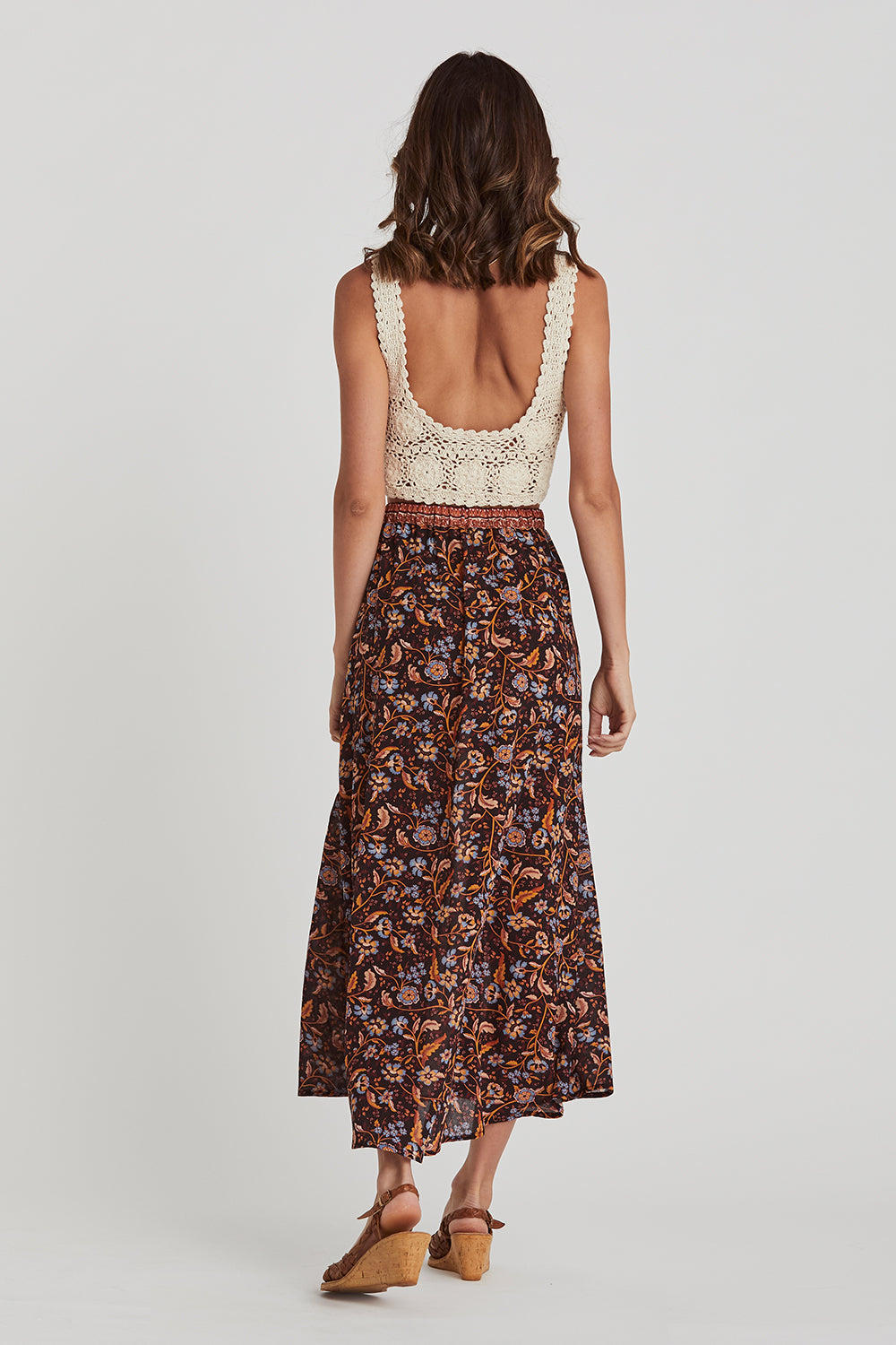 Daisy Chain Skirt in Amber