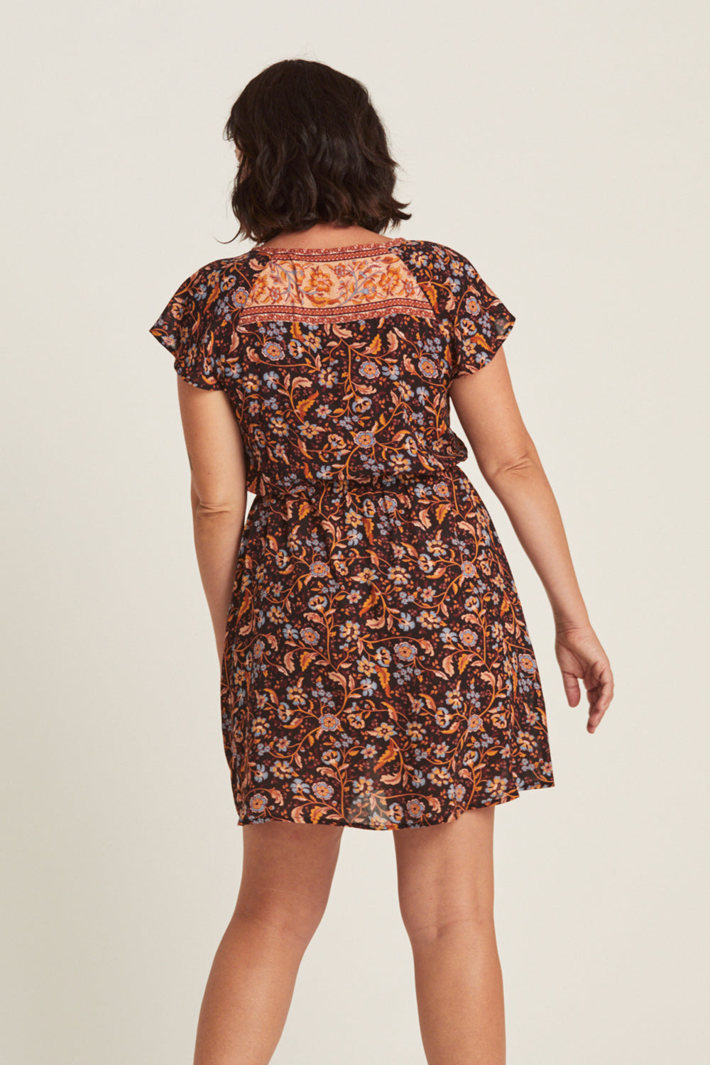 Daisy Chain Mini Dress in Amber