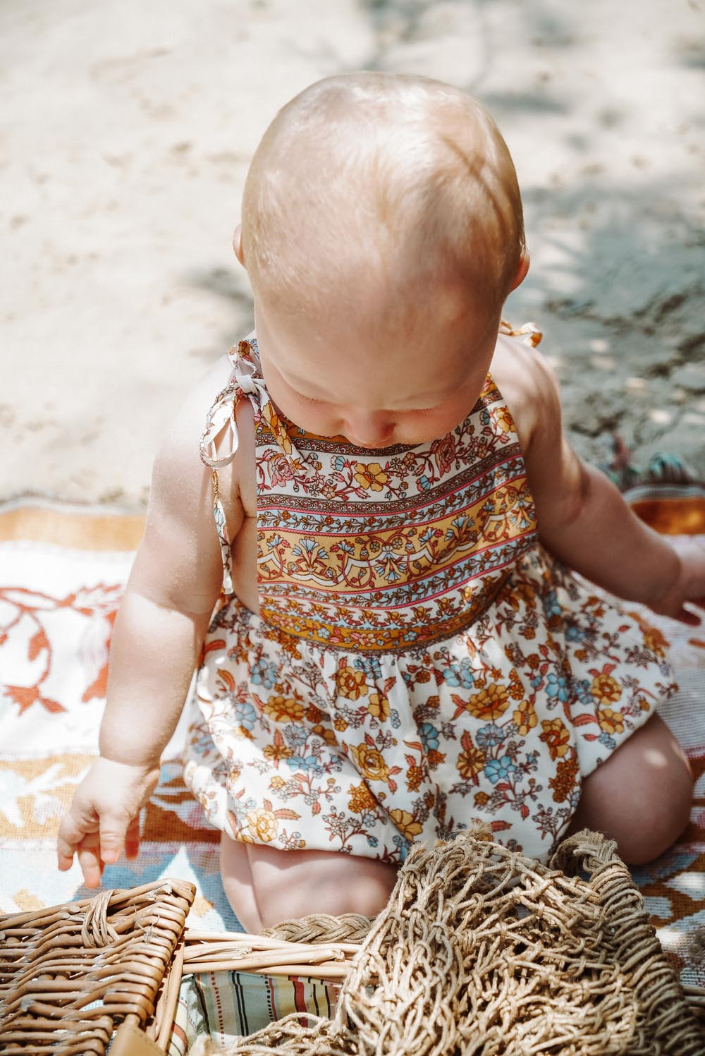 Honey Baby Romper in Coconut Cream