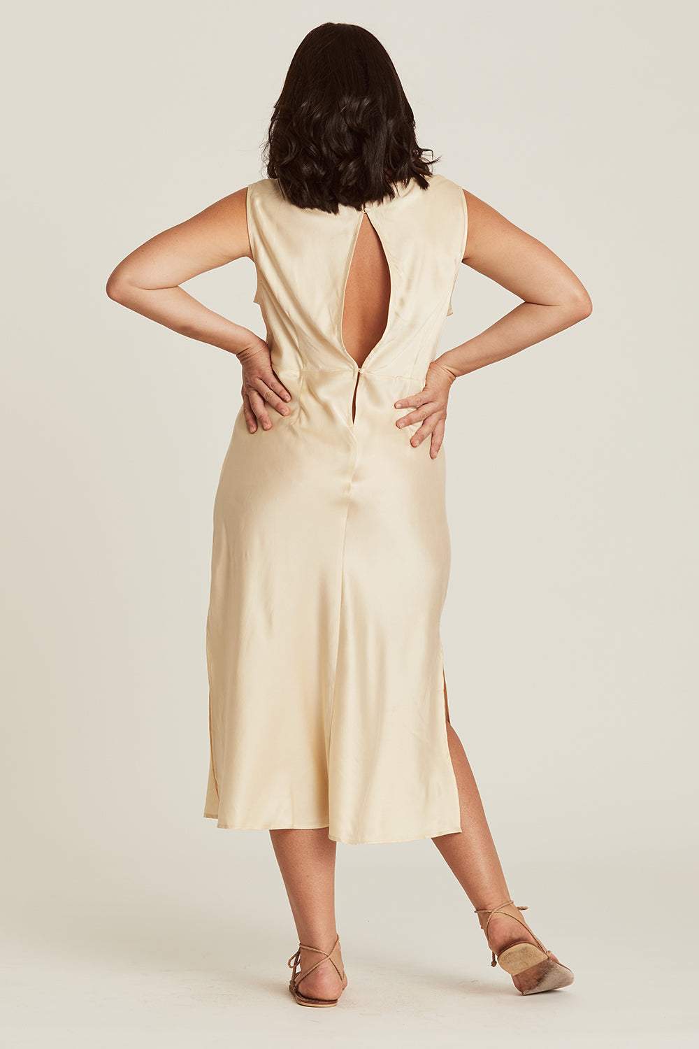 Eleanor Sundress in Champagne