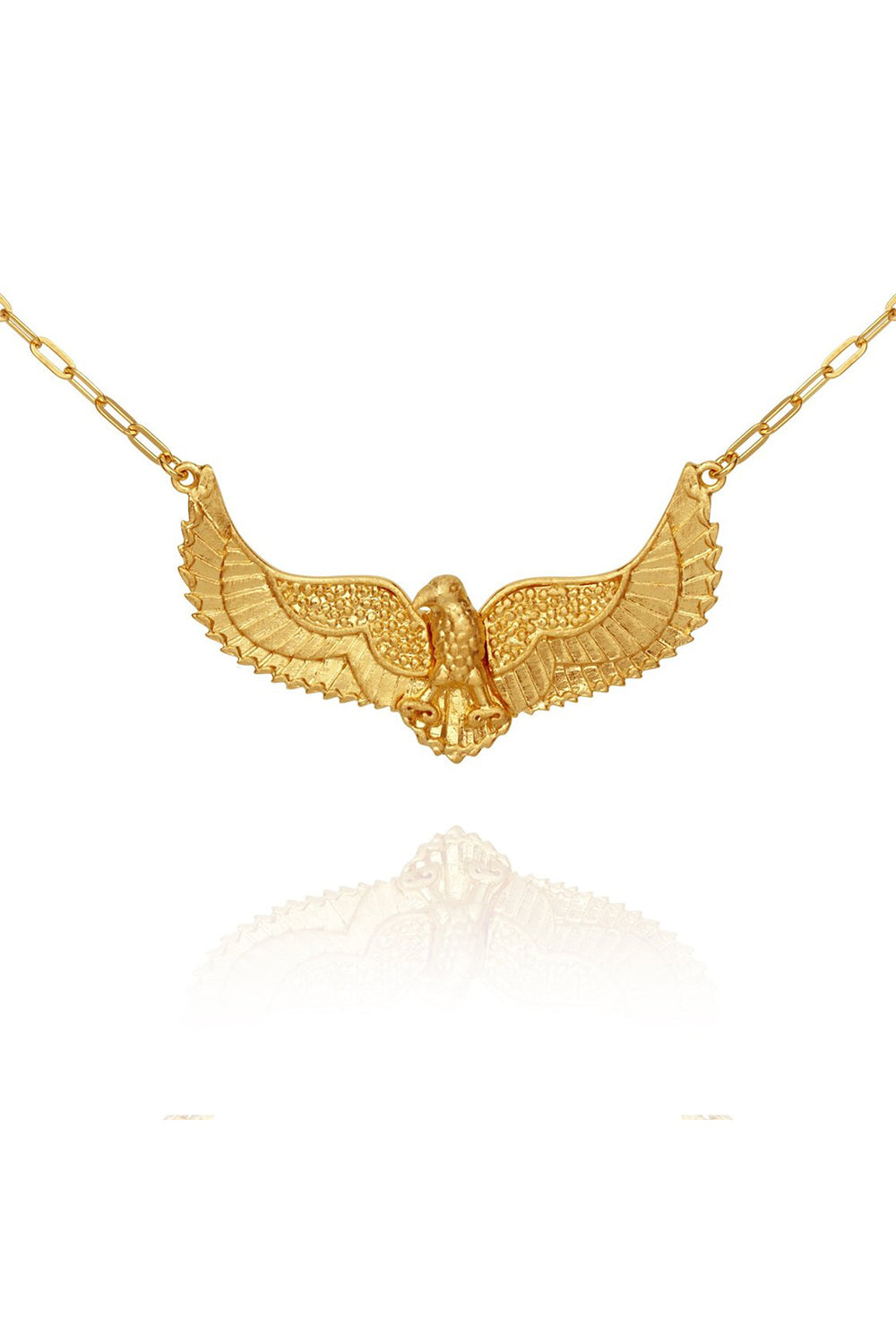 Temple of the Sun ~ Eagle Necklace Gold Small