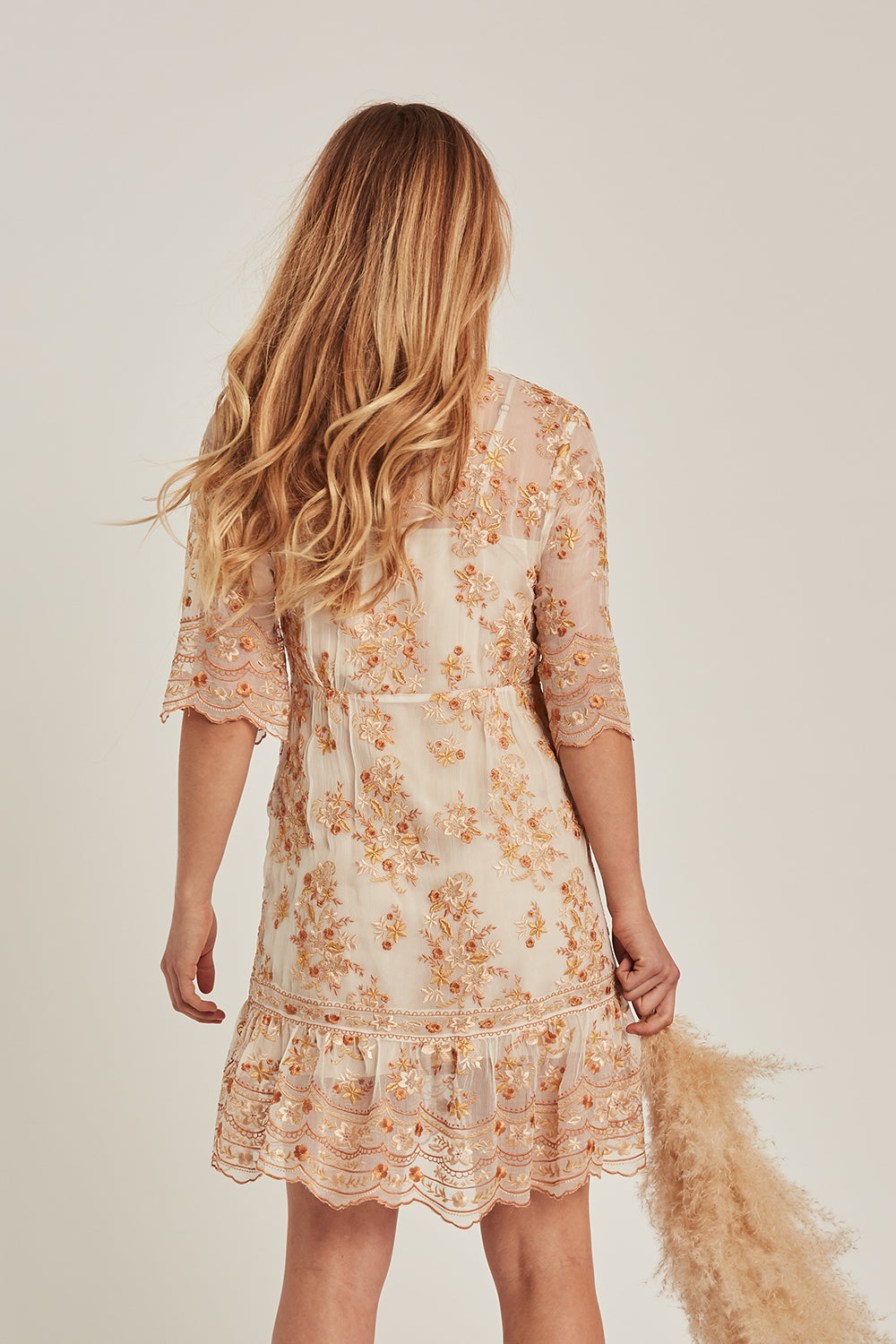 Elysian Mini Dress in Champagne