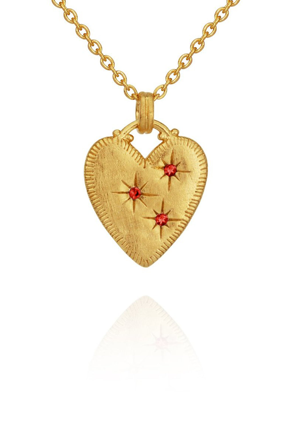 Temple of the Sun ~ Etti Necklace With Ruby Gold