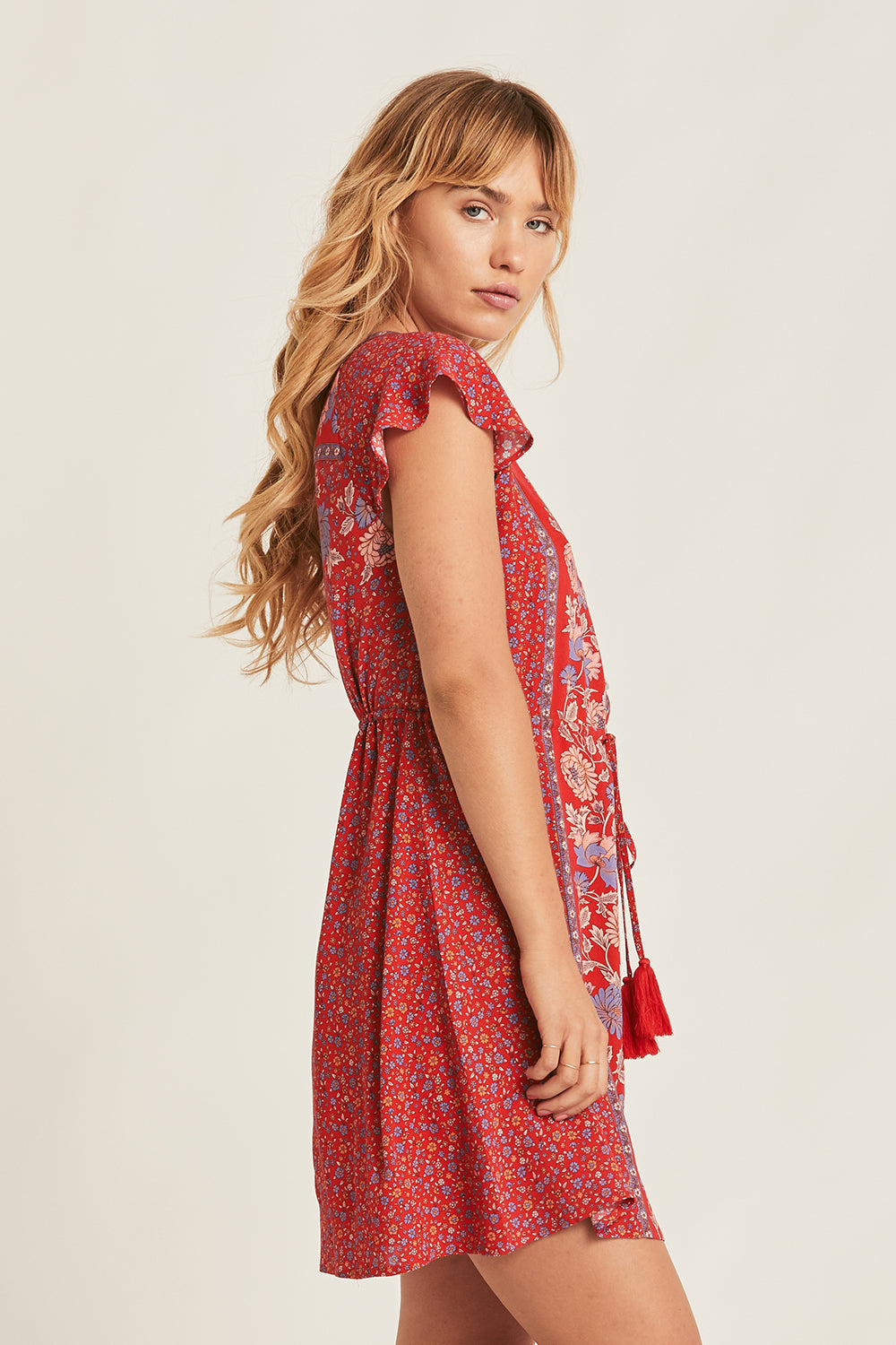 Ophelia Mini Dress in Salsa