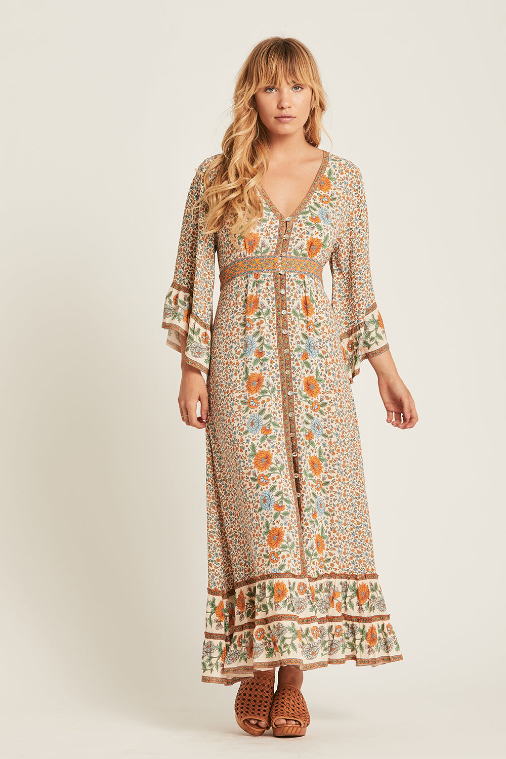 Ophelia Maxi Dress in Tango