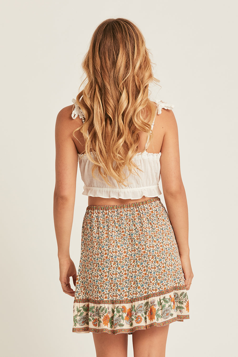 Ophelia Mini Skirt in Tango
