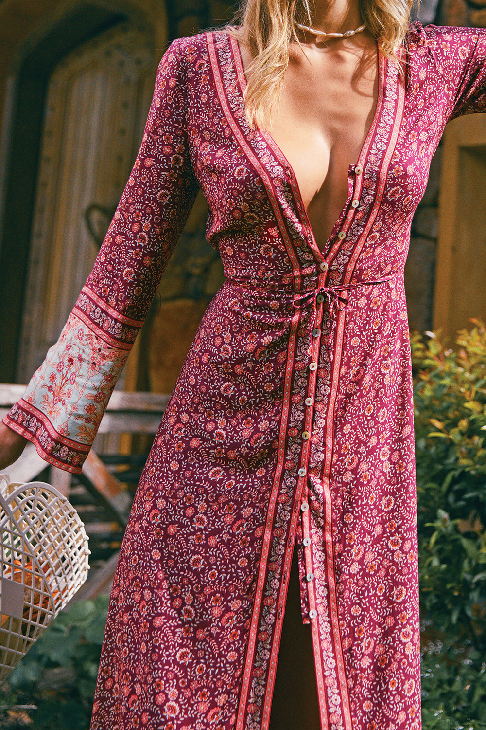 Fleetwood Duster Dress in Pomegranate