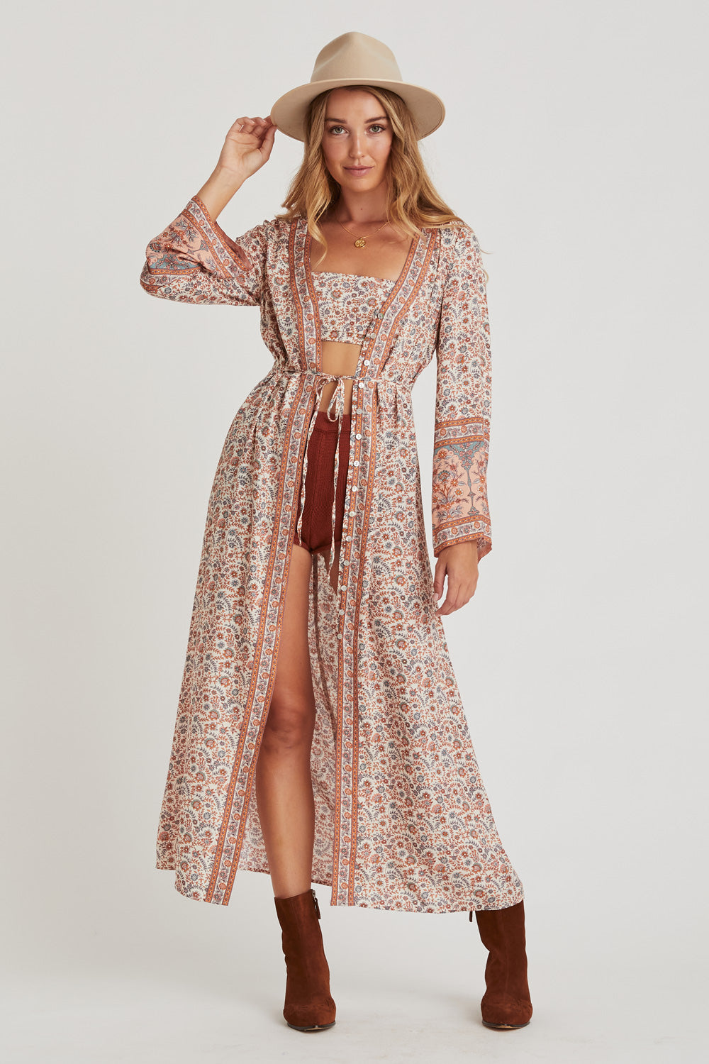 Fleetwood Duster Dress in Harvest Gold