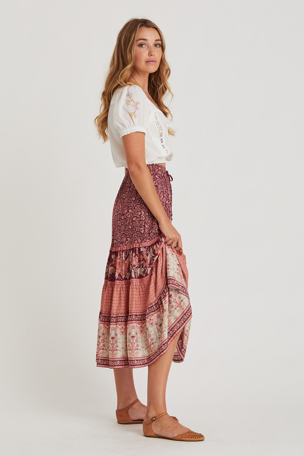Fleetwood Skirt in Pomegranate