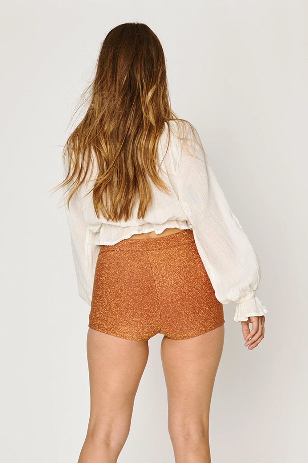 Gloria Shorts in Metallic