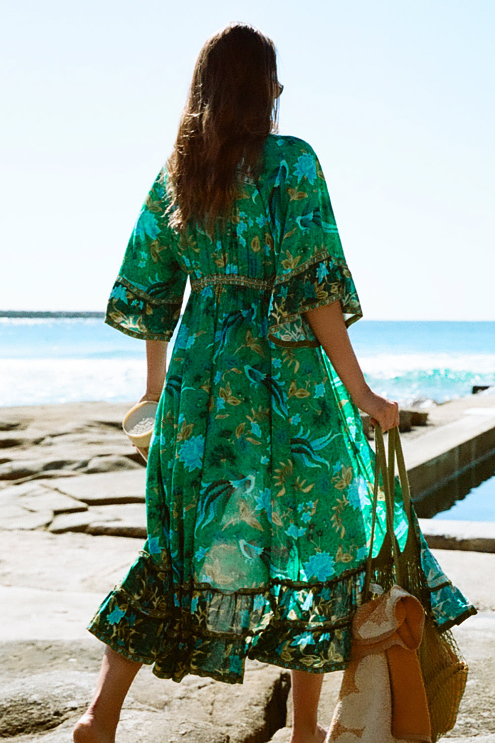 Ilona Maxi Dress in Forest