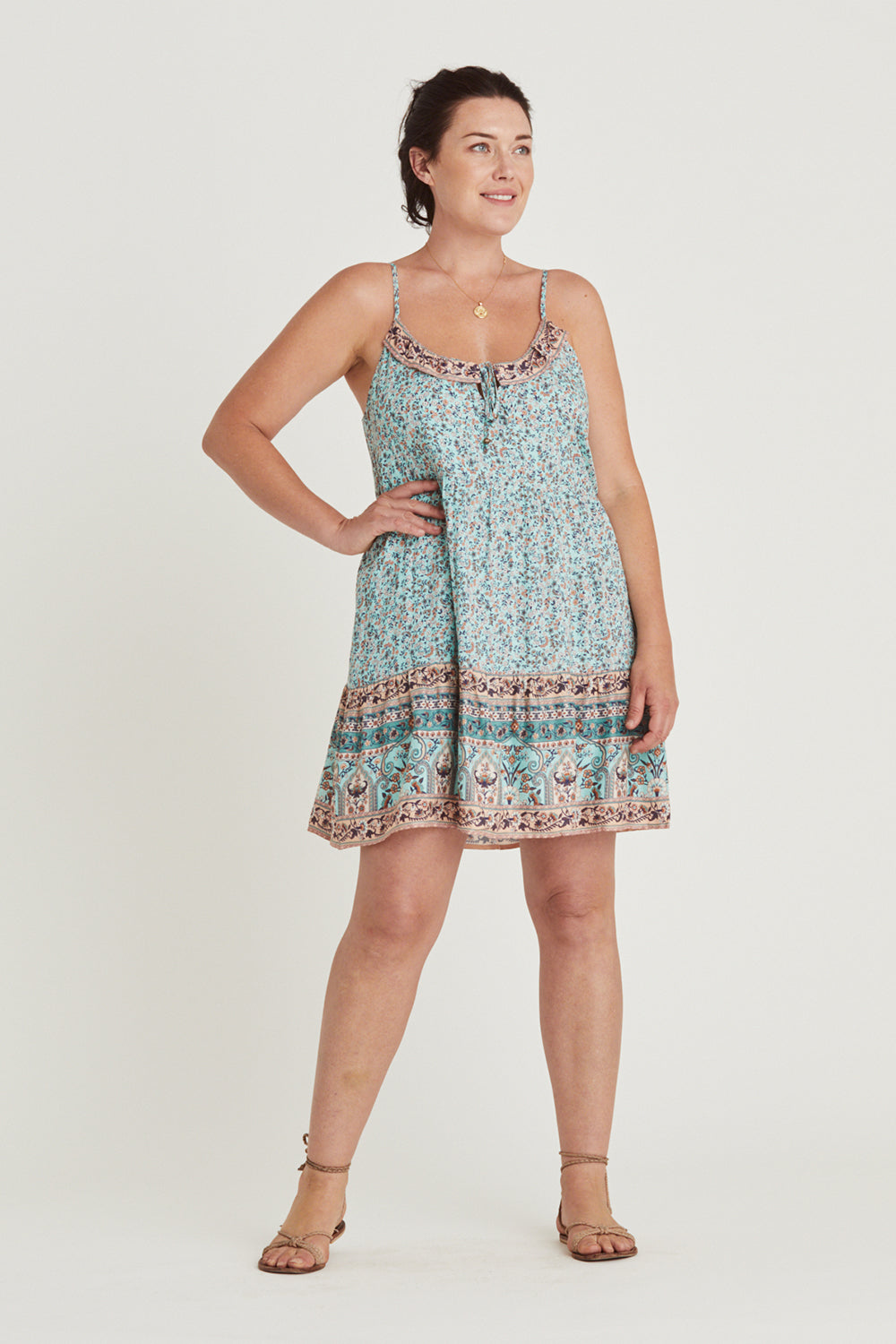 Island Mini Dress in Lagoon