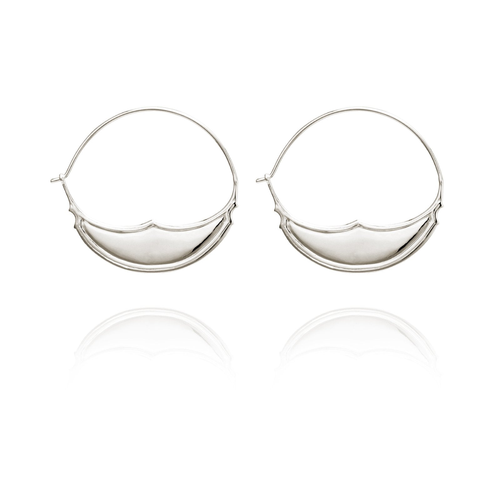Temple of the Sun ~ Jazmin Hoop Earrings Small Silver