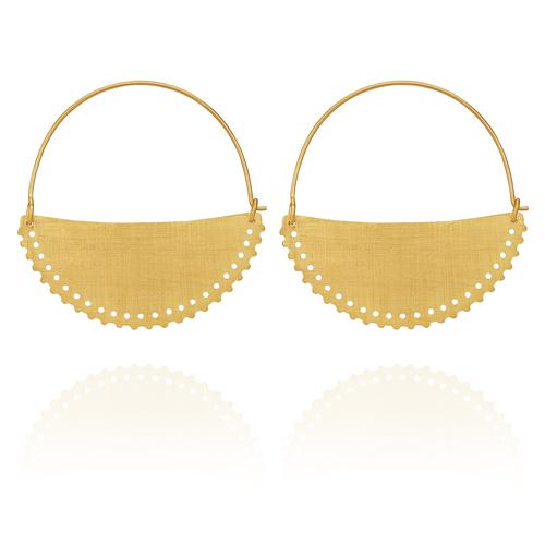 Temple of the Sun ~ Klio Earrings Large Gold