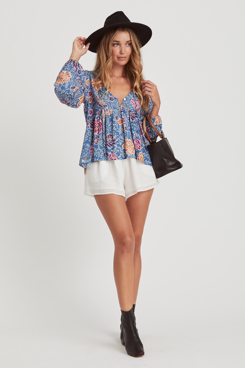 Leilani Blouse in Floral Reef