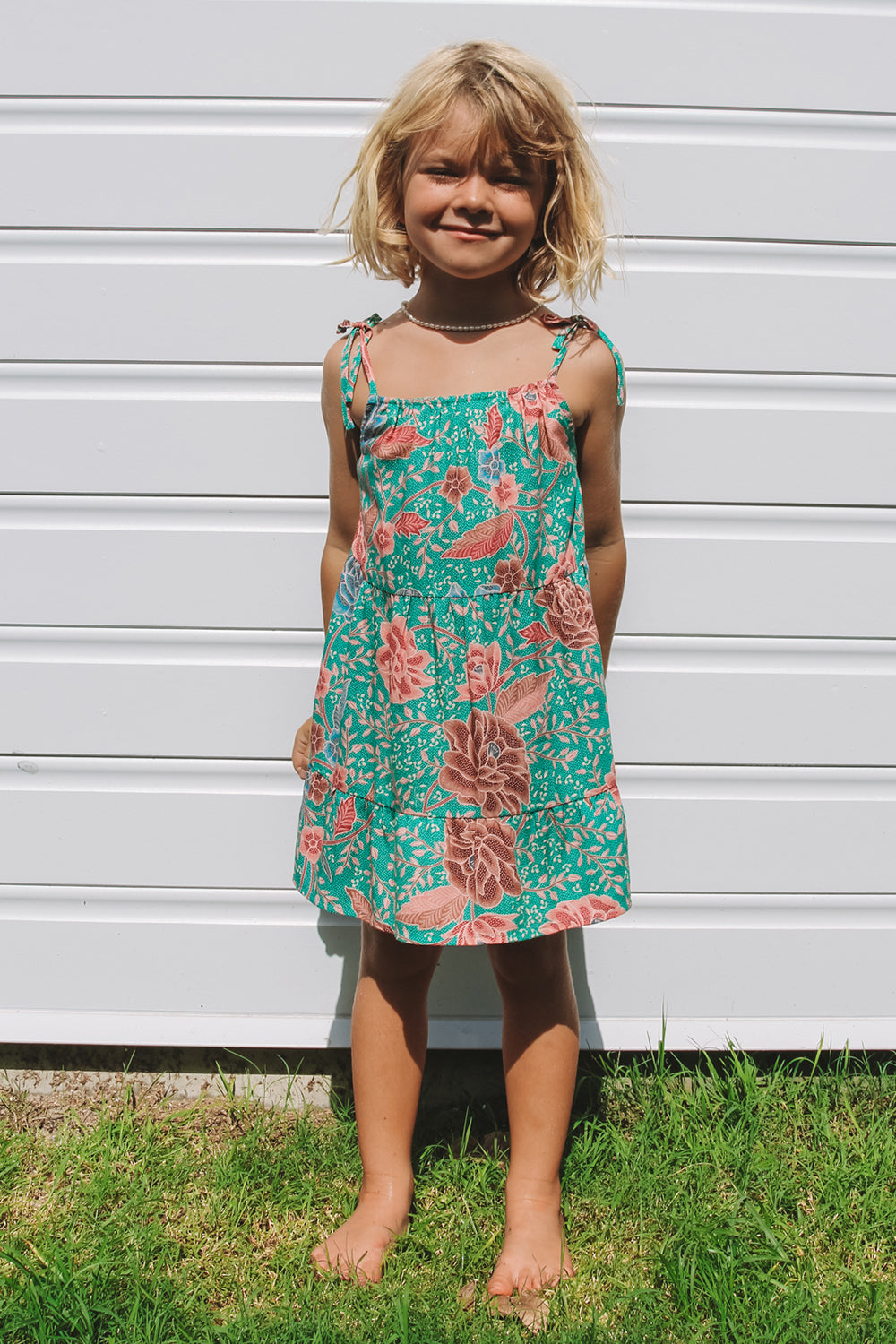 Leilani Kiddies Dress in Palms