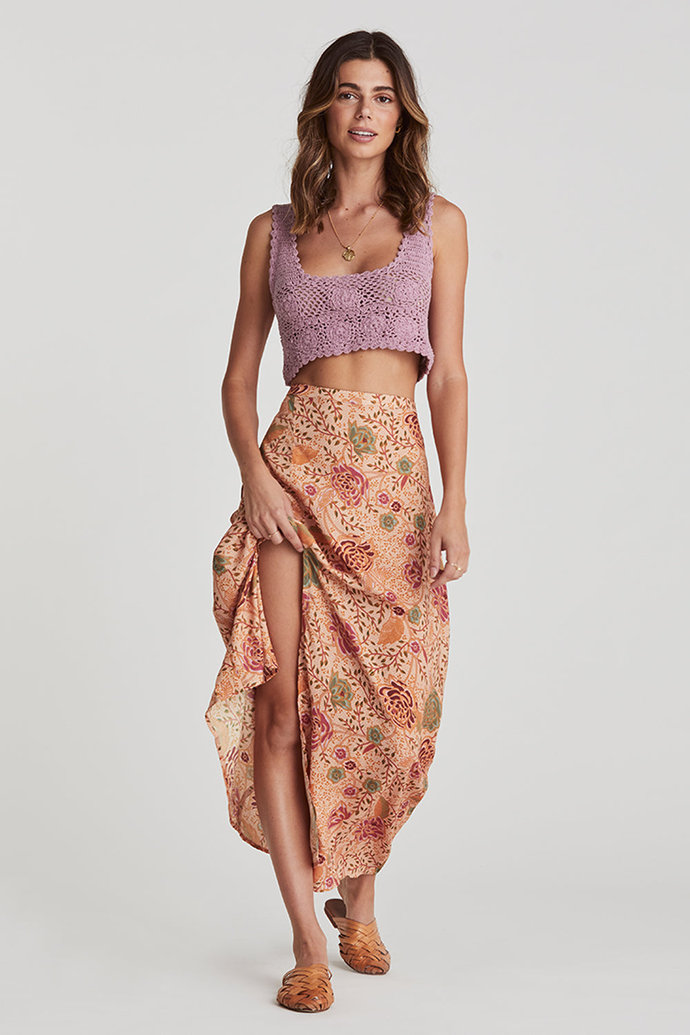 Leilani Midi Skirt in Jungle Sands