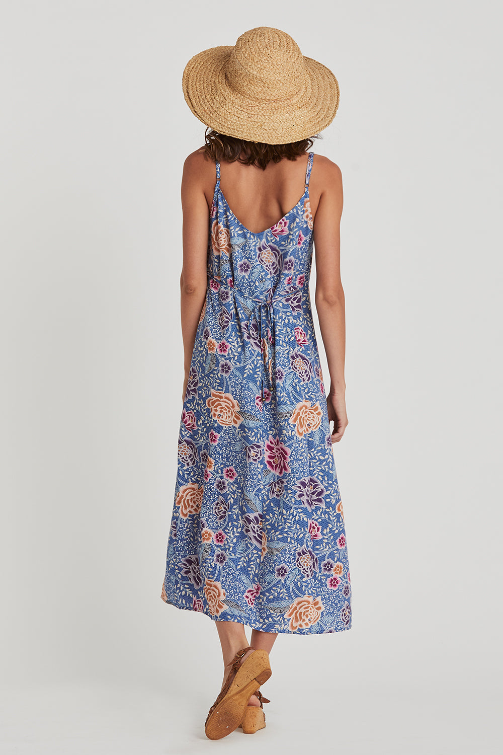 Leilani Slip Dress in Floral Reef